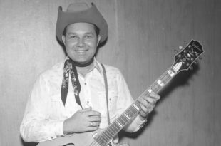 Leon Rhodes, longtime guitarist with Ernest Tubb's Texas Troubadours, late 1950s or early 1960s.